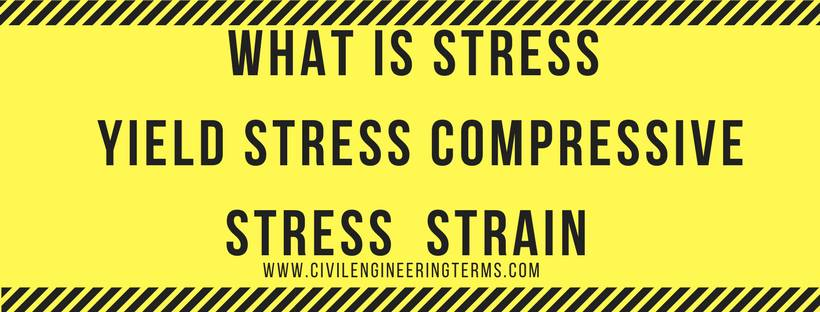 What is Stress Yield stress Compressive stress Strain