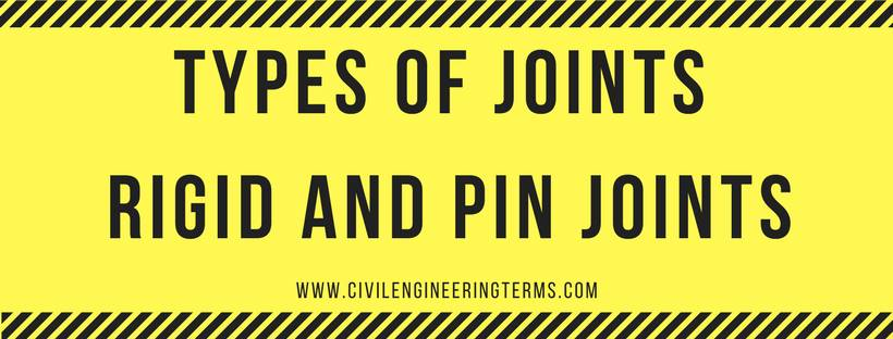 types of joints rigid joints and pin joints