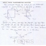 Shear stress equation on an oblique section of body