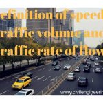 Definition of speed | Traffic volume and Traffic rate of flow