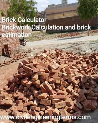 brick calculator, brickwork calculation and brick estimation